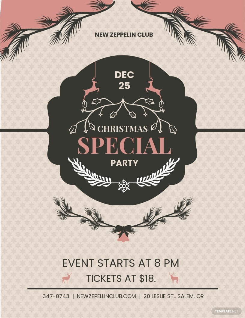 Merry Christmas Event Flyer Template