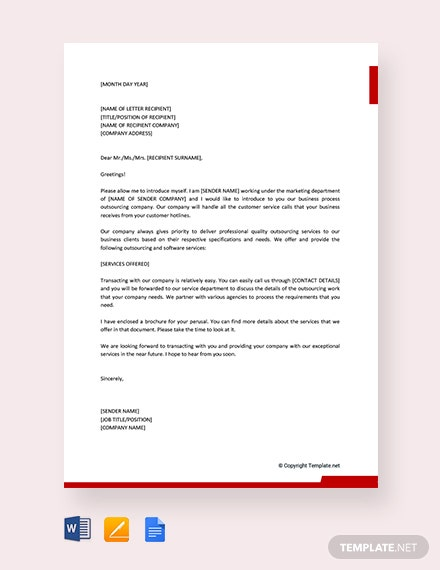 Free Business Introduction Letter to New Clients