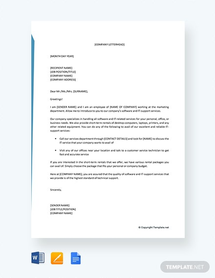 Free Business Introduction Letter to Prospective Clients