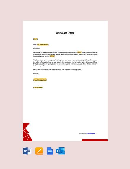 Grievance Letter