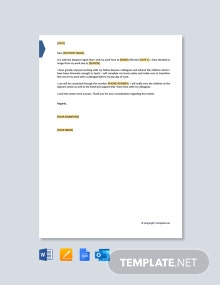 Free Daycare Resignation Letter