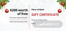 Free Formal Christmas Gift Certificate Template