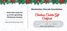 Free Christmas Cantata Gift Certificate Template