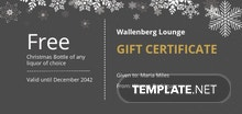 Free Christmas Party Gift Certificate Template