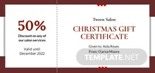 Free Simple Christmas Gift Certificate Template