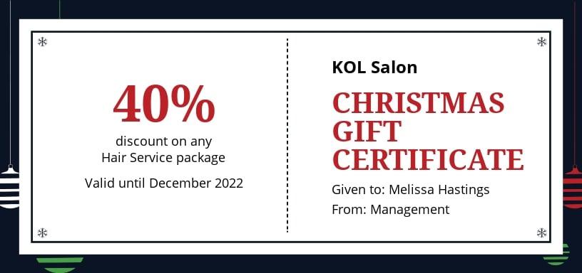 Free Modern Christmas Gift Certificate Template.jpe