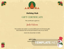Free Christmas Certificate Template