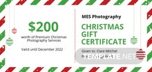 Free Retro Christmas Gift Certificate Template