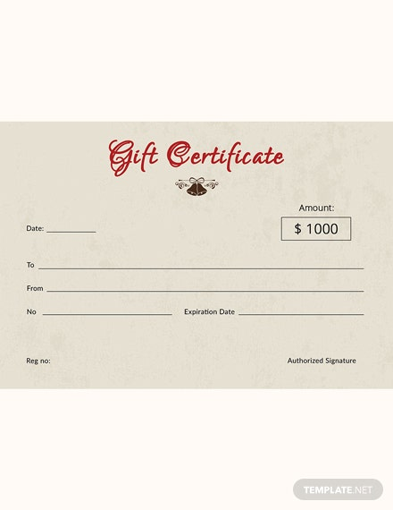 Vintage Christmas Gift Certificate Template