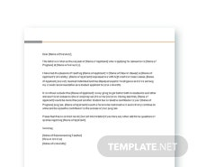 Free School Reference Letter Template
