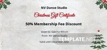 Free Elegant Christmas Gift Certificate Template