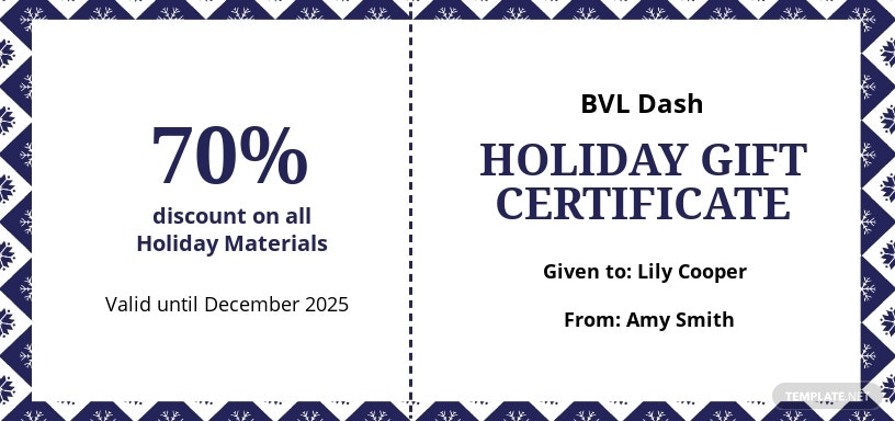 Modern Holiday Gift Certificate Template
