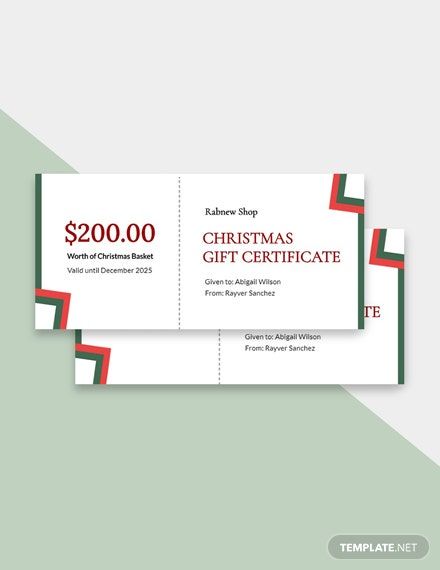 Free Blank Christmas Gift Certificate Templateadobe Psd Word Doc Publisher Apple Mac Pages
