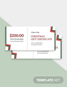 Free Blank Christmas Gift Certificate Template