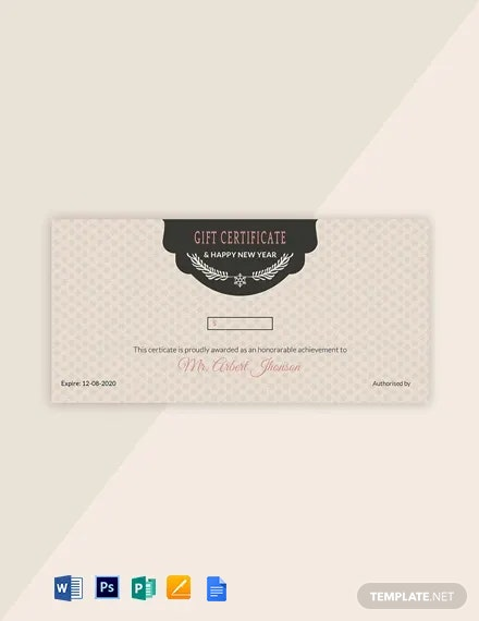 Free Vintage Holiday Gift Certificate Template