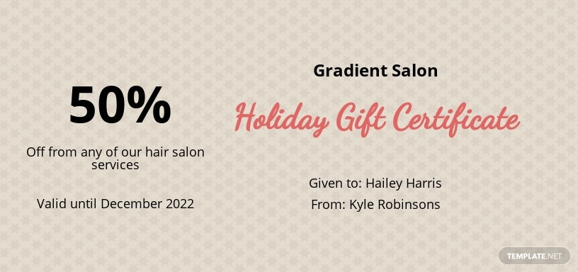 Vintage Holiday Gift Certificate Template