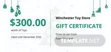 Free Christmas Fun Gift Certificate Template