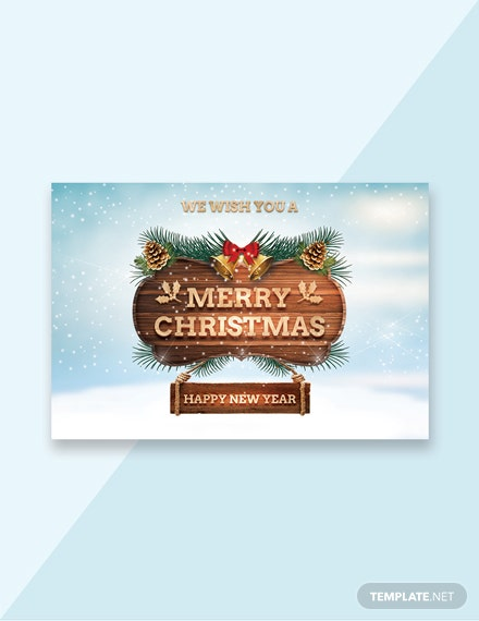 Free Sample Christmas Greeting Card Template