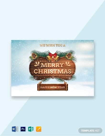 Sample Christmas Greeting Card Template