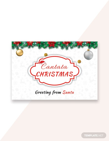 Free Santa Christmas Greeting Card Template