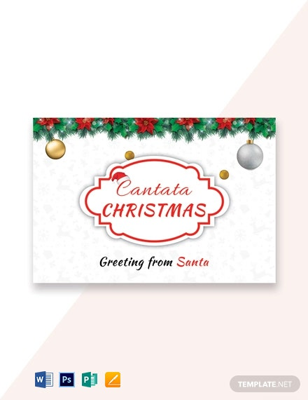 Free Santa Christmas Greeting Card Template