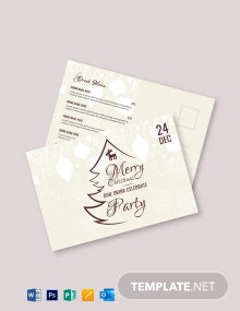 Free Vintage Christmas Greeting Card Template