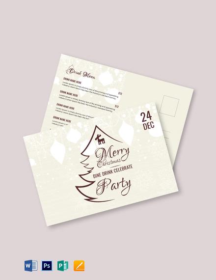 Free Vintage Christmas Greeting Card Template
