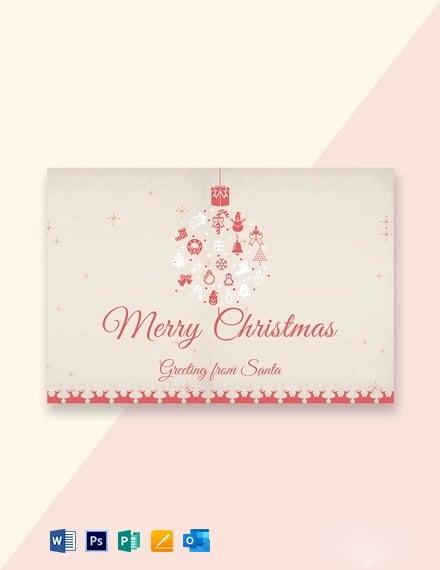 Minimal Christmas Greeting Card Template