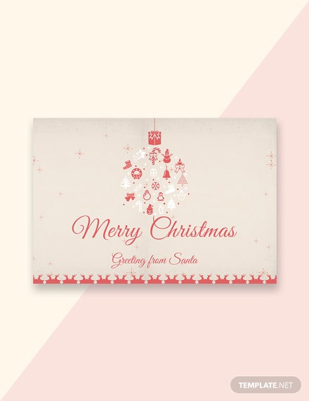 25 free christmas greeting card templates download ready made