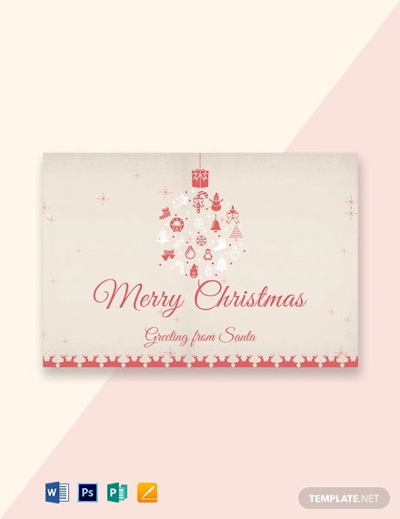 Free Minimal Christmas Greeting Card Template