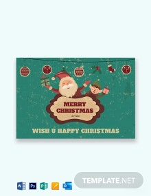 Free Modern Christmas Greeting Card Template
