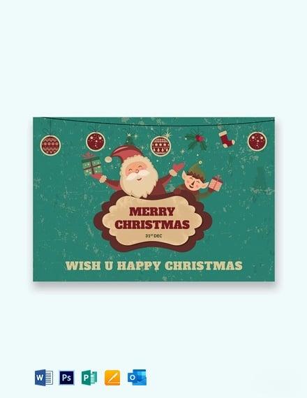 Modern Christmas Greeting Card Template