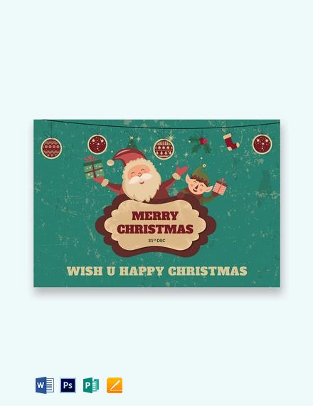 Free Modern Christmas Greeting Card Template