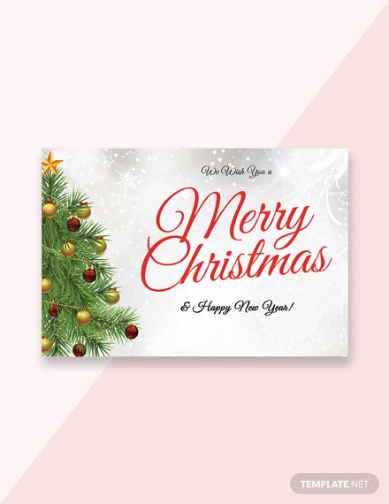 Free Christmas and New Year Greeting Card Template