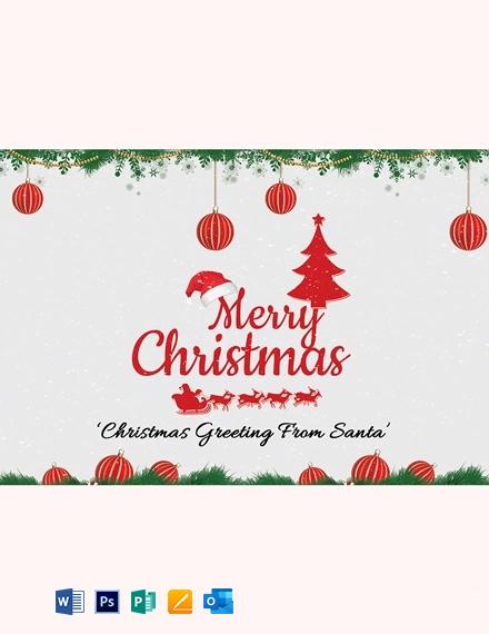 Creative Christmas Greeting Card Template