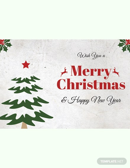 Free Christmas Holiday Greeting Card Template In Adobe Photo Microsoft Word Publisher Le Pages