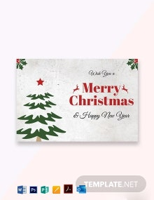 Free Christmas Holiday Greeting Card Template