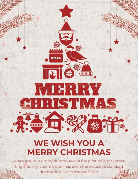 Christmas Greeting Invitation Card Template