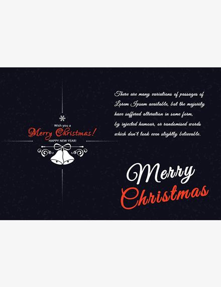 Elegant Christmas Greeting Card Template