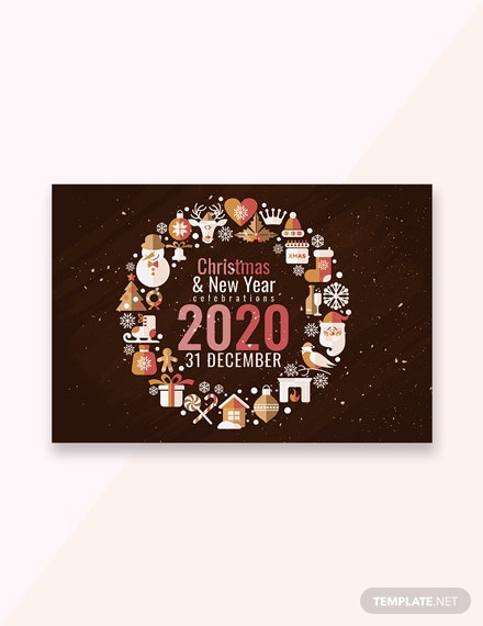 free creative christmas and new year greeting card template in adobe photoshop microsoft word publisher apple pages templatenet