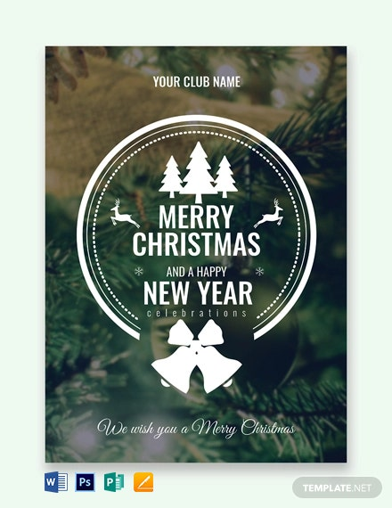 Photo Christmas Greeting Card Template