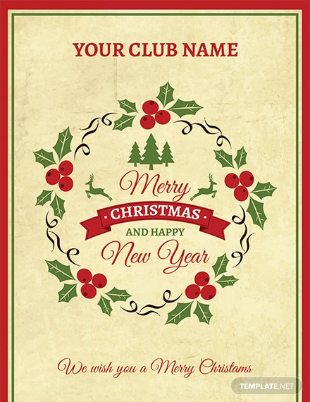 Simple Christmas Greeting Card Template