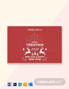 Free Retro Christmas Greeting Card Template