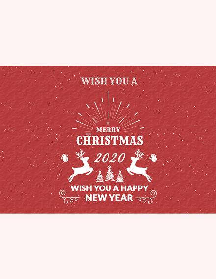 Retro Christmas Greeting Card Template