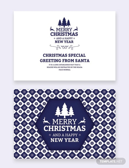 25 Free Publisher Christmas Greeting Card Templates Download