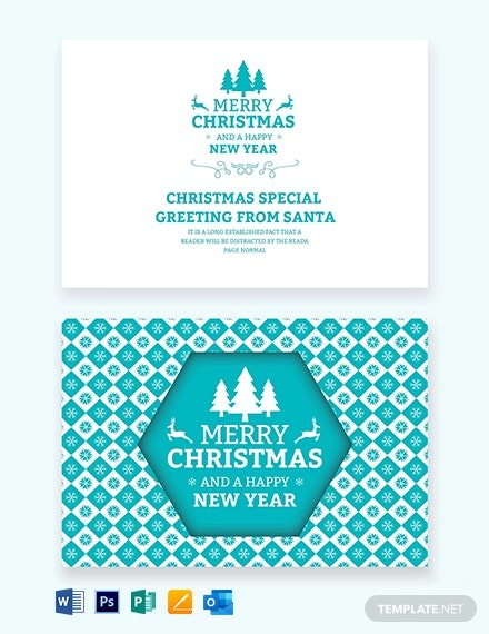 Christmas and New Year Card Download