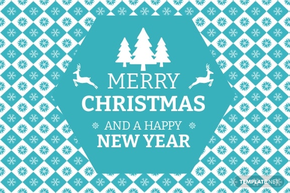 Free Christmas and New Year Card Template 2.jpe