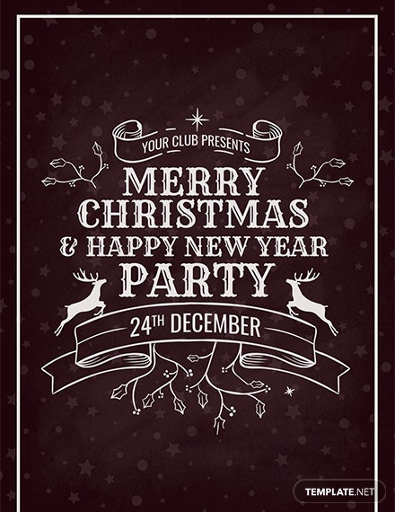 Christmas Party Invitation Card Download