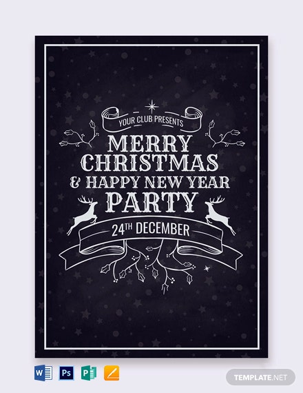Free Christmas Party Invitation Card Template