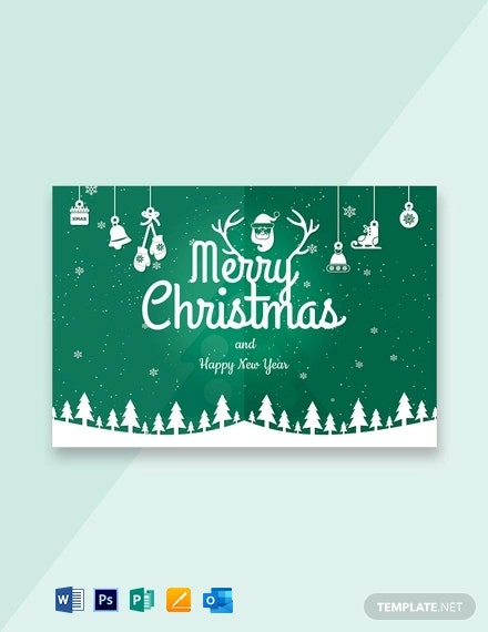 Free Modern Merry Christmas Card Template